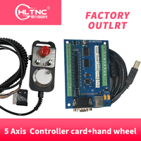new MACH3 USB 5 Axis 100KHz USB CNC Smooth Stepper Motion Controller card breakout board + High quality industrial hand wheel