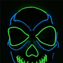 NEW Halloween Mask Night Atmosphere Decorative Face Masks Men Women Wear LED Light-Emitting