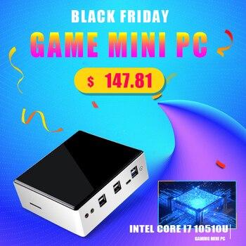 New Release 10th Gen Mini PC Intel i7-10710U i5-8250U 6*Core 2*DDR4 M.2 NVMe NUC Computer Windows 10 Linux WiFi USB-C DP HDMI PC