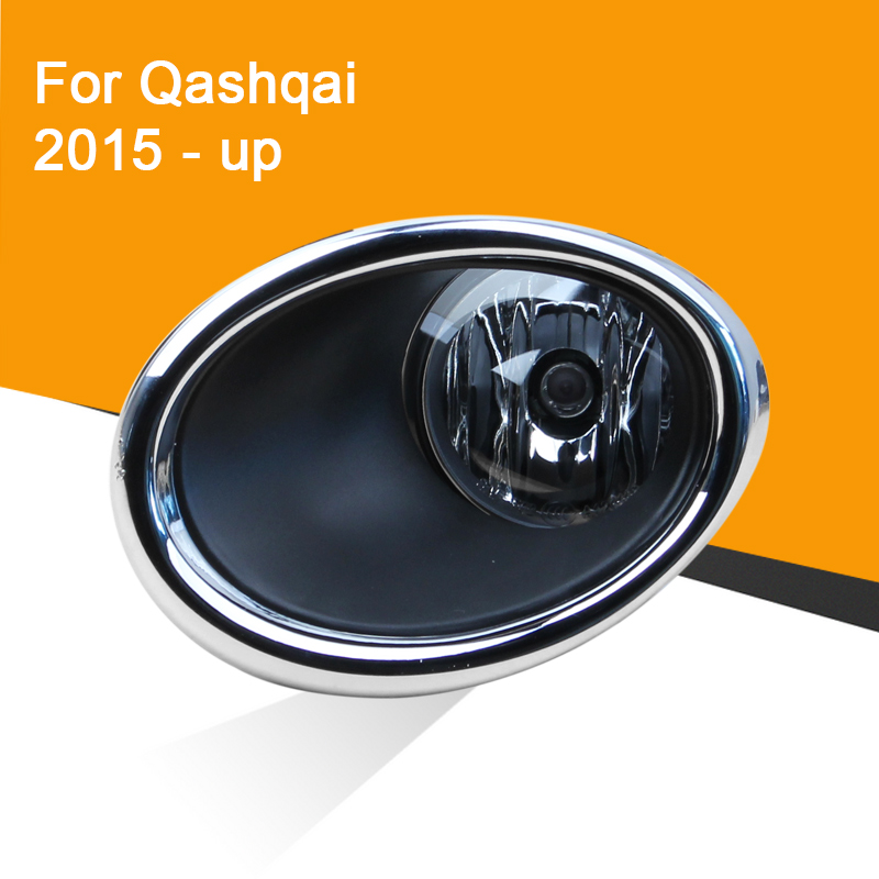 1 Pair 12V Car Fog Lamp Assembly With Fog Light Chrome Covers And Wire Relay Switch Button For Nissan Qashqai 2015 2016