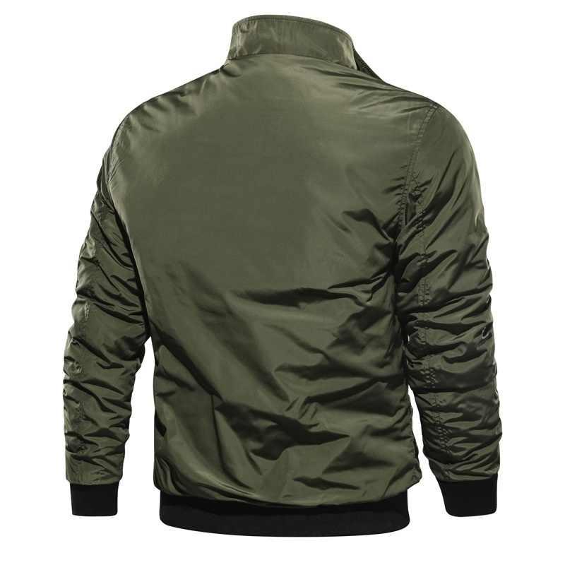 男性の爆撃機ジッパージャケット男性カジュアルストリートヒップホップスリムパイロットコート男性服防風秋冬 Jacke プラスサイズ