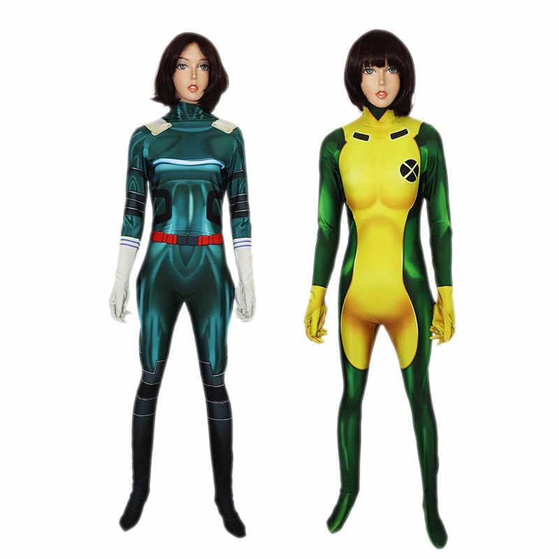 Avengers Endgame kuantum bölge Cosplay kostüm kadınlar süper kahraman kaptan Marvel Bodysuit takım tulumlar seksi tulum kıyafetler