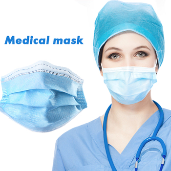 10pcs Medical Mask Non-woven Three-layer PM2.5 Filter Surgical Mask Anti Dust Face Mouth Masks Anti Flu Hygiene Fast Shipping