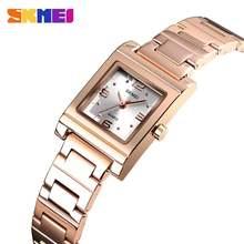 Часы наручные skmei женские кварцевые люксовые брендовые светильник