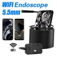 Y13 5.5mm WIFI Endoscope camera screen display HD1080p waterproof 3.5m/5m/10m inspection borescope for Iphone android phone