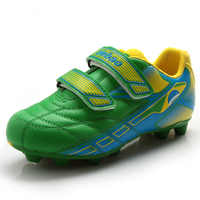 Kinder Turnschuhe Außen Boy Mädchen Fußball Stollen Schuhe Sport Blau Grün Komfortable Kinder Fußball Stiefel Training Turnschuhe