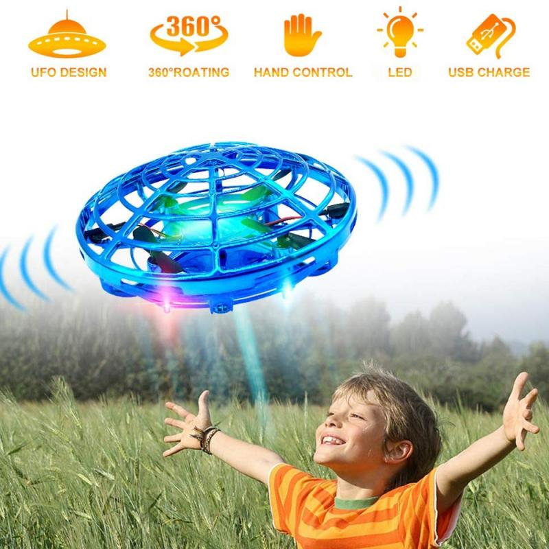 Mini Drone UFO Hand Operated RC Helicopter Simulators Drone Infrared Induction Aircraft Flying Ball Toys For Kid Christmas Gift