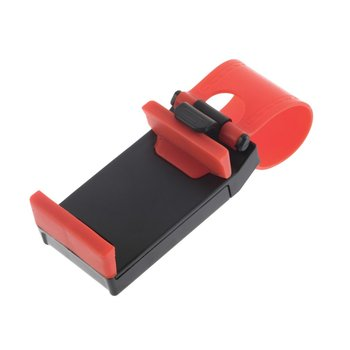 Universal Car Holder Steering Wheel Bike Clip Mount Rubber Band Holder For iPhone For Samsung For Lenovo Mobile Phone Bracket image