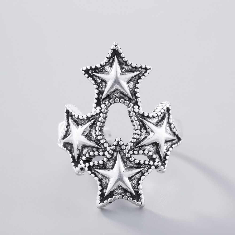 Vintage Big Star แหวน LadiesTrendy มิตรภาพ Vintage Sweet Star Knuckle แหวนของขวัญวันเกิดสำหรับผู้หญิงผู้ชาย