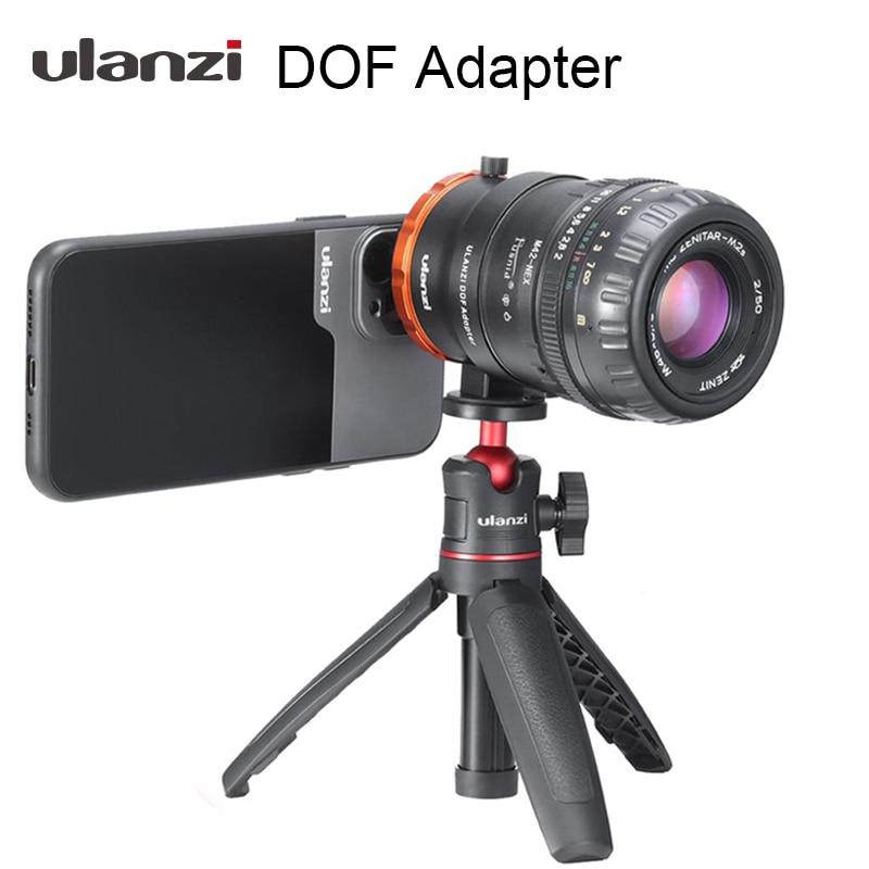 Адаптер Ulanzi DOF для смартфона с полной рамкой, адаптер для объектива камеры SLR/DSLR и кинотеатра, адаптер для телефонов iPhone и Android