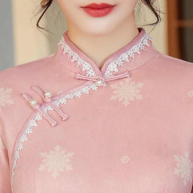 Торжественное платье Cheongsam новое поступление приталенное платье Ципао для выпускного вечера китайское традиционное платье пуговицы ручной работы vestido chino
