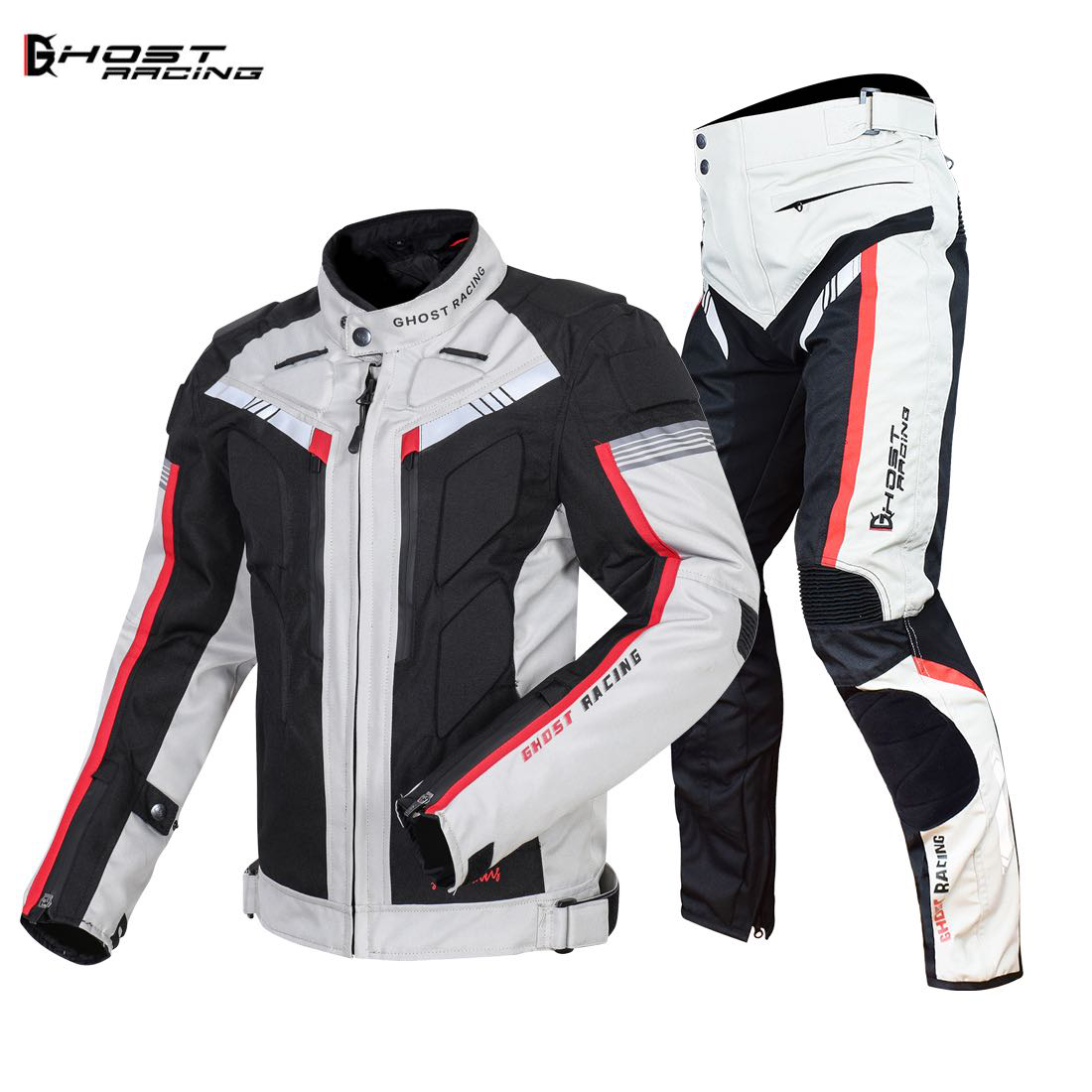 GHOST RACING Autumn Winter Motorcycle Jacket Men Waterproof Windproof Moto Jacket Riding Racing Motorbike Clothing Protective