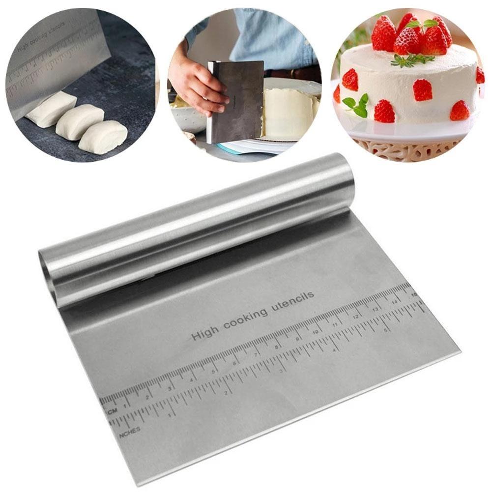 Stainless Steel Baking Pastry Spatulas Dough Scraper Cutter  spatula Cake Decor
