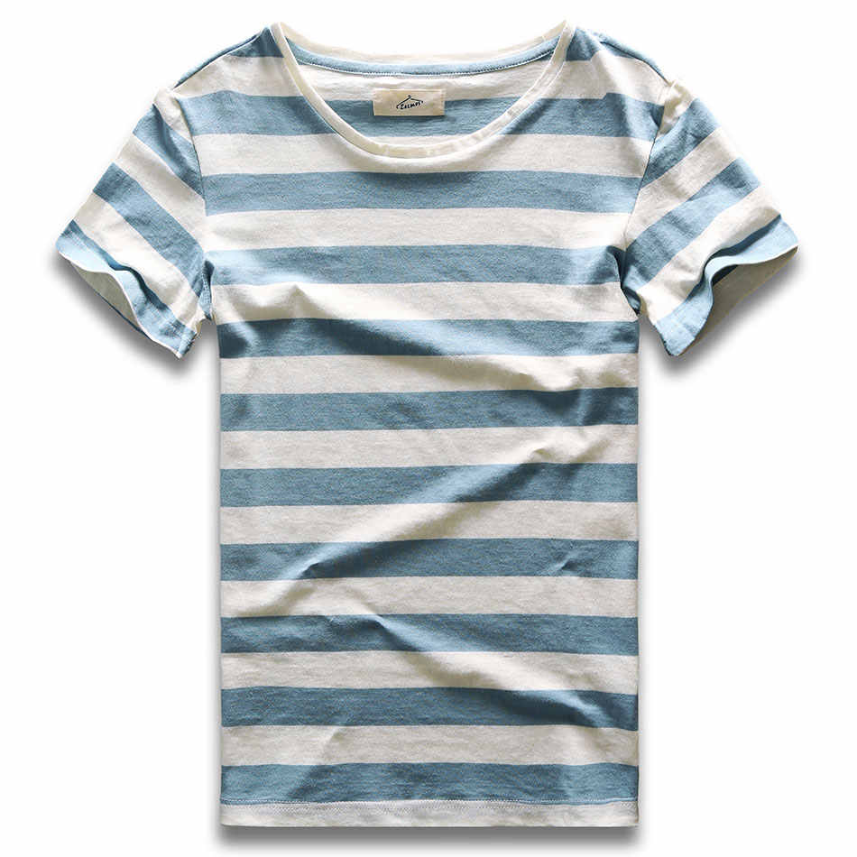 Men Striped T-Shirt Stripes Top Tees Male Fashion Short Sleeve Blue Red White Black Costume Cosplay Party