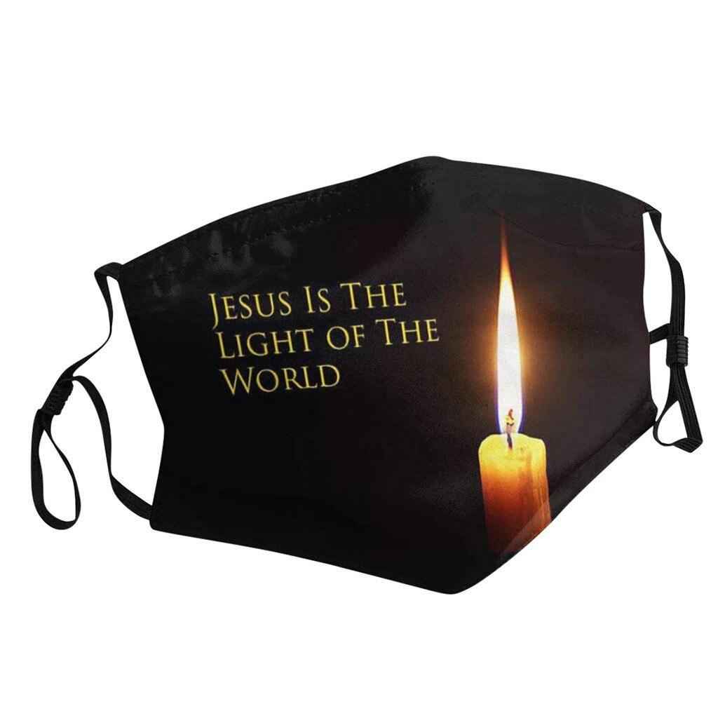 Маска Иисуса, христианская печать, противовирусные маски, тушь для ресниц, Gripe JESUS-это светильник мира, защитный хлопок, Mascarillas Chirstma