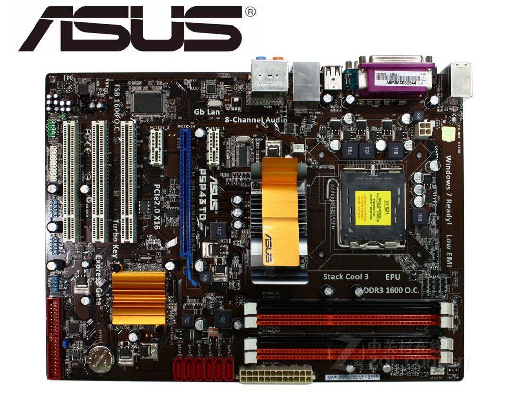 ASUS P5P43TD Original Motherboard  LGA 775 DDR3 16GB USB2.0 P43 USED Desktop Motherboard Boards