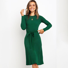 Dress Elegant Womens dress European and American Autumn Winter Slimming Long Sleeve Fall dresses for Women 4 Colors 22859