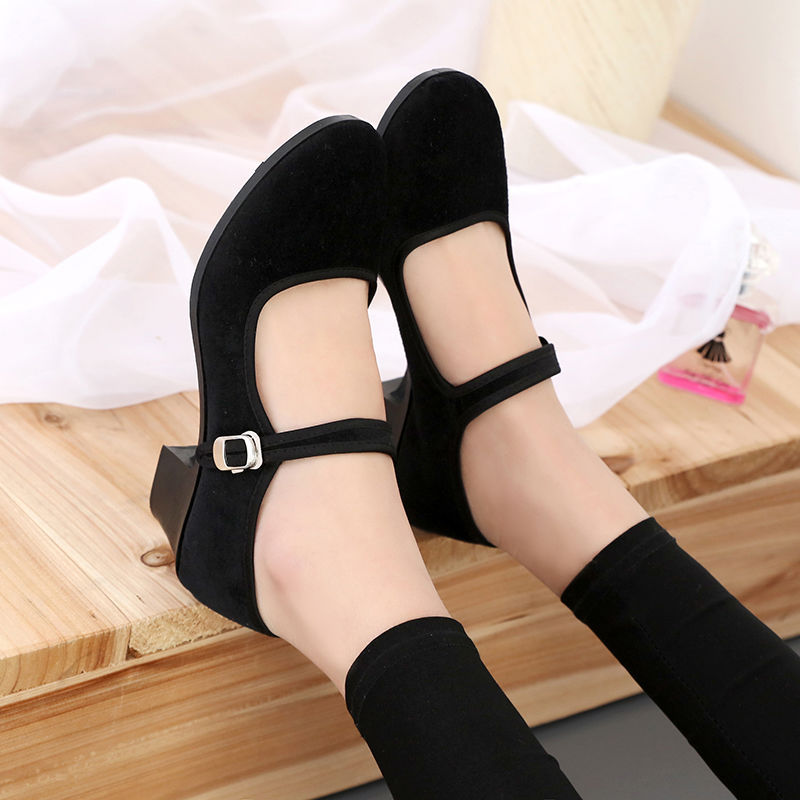 Women's 5cm High Heels Pumps Office Lady Women Shoes Sexy Bride Party Thick Heel Round Toe  High Heel Shoes