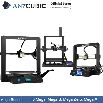 ANYCUBIC I3 Mega /S / X / Zero 3D Printer Full Metal Plus Size Desktop Frame Impresora 3D Drucker DIY Kit Gadget Extruder 1