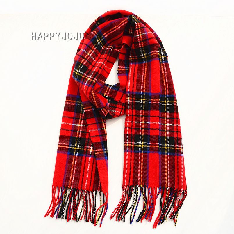Children Scarf High Quality Classic Red Green Plaid Boy Girl Soft Warm Winter Small Narrow Shawl Lovely Gift For Child Kid Baby