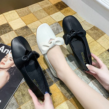 Boat-Shoes Footwear Party-Flats Spring Square Toe Girls Slip-On Autumn Butterfly-Knot-Size