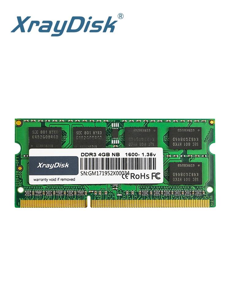 Xraydisk Laptop Memory Sodimm Notebook Ram DDR3 1600mhz 8GB 204pin 4GB