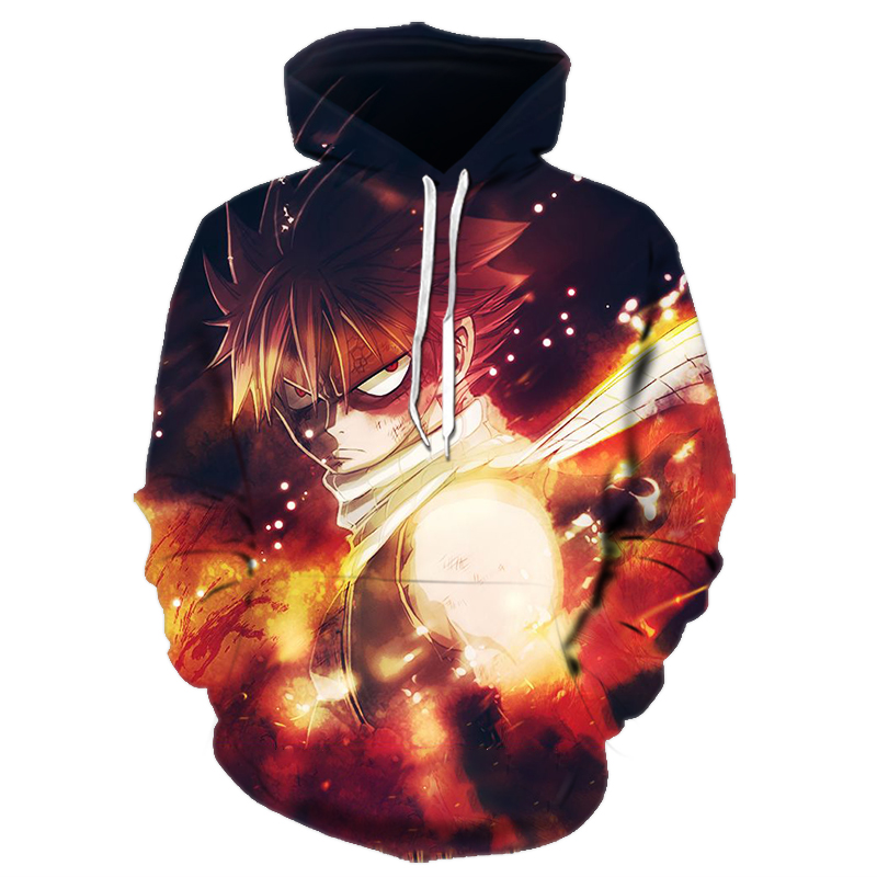 Anime Fairy Tail 3D Hoodies Men/Women Sweatshirts Full Print Fairy Tail Hoodies Men Oversized Harajuku Pullovers Mens Clothing