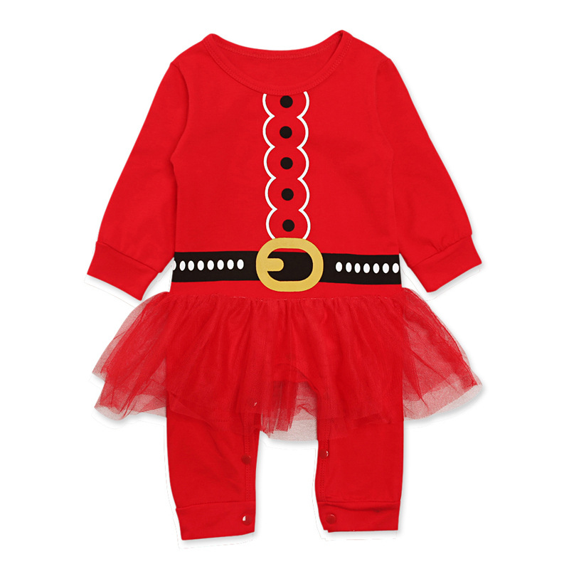 Emmababy christmas Newborn Kids Baby Girl Long Sleeve Romper Jumpsuit Christmas Outfits baby girls xmas Dress Skirt
