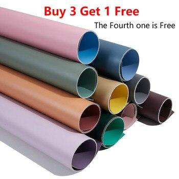 [Acheter 3 obtenir 1 gratuit] Morandi 57*87 cm photographie toile de fond 2 côtés vert écran Photo arrière-plans et accessoires de ventilateur pliants