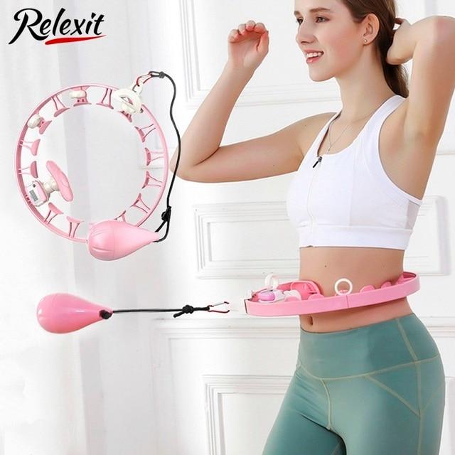 Detachable Smart Sport Hoops Fitness Hoola Hoops Thin Waist Trainer Adjustable Weighted Easy Hoops Gym Equipment Massage Hoops 1