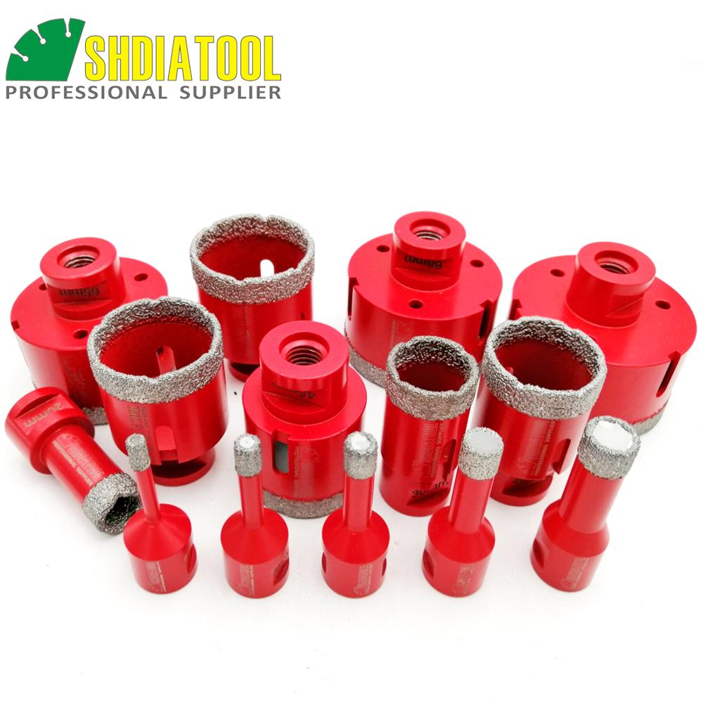 SHDIATOOL 1pc Vacuum Brazed Diamond Drilling Core Bits Porcelain Tile M14 Connection Drill Bits Marble, Stone, MasonryHole Saw