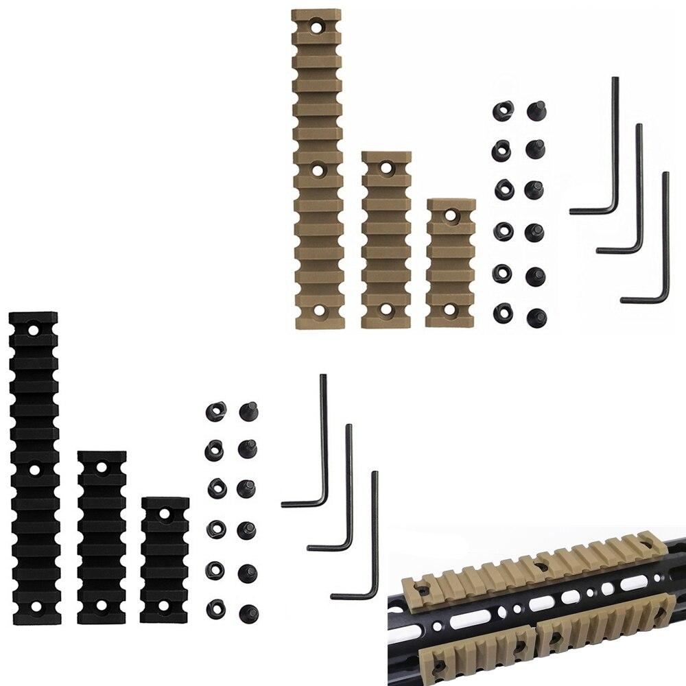 "3 Sizes Set 5 7 13 Slot 2"" 3"" 5"" Picatinny Weaver Rail Mount ABS Plastic AR15 M4 Keymod Rail Handguard Section for Hunting(China)"