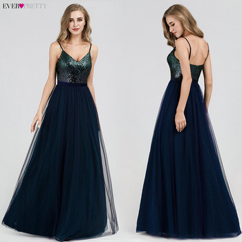 Prom Dresses Satin 2020 Ever Pretty EP07859 Sexy V-neck Sequined Backless Red Long Formal Party Gowns Cheap Prom Long Elegant 3