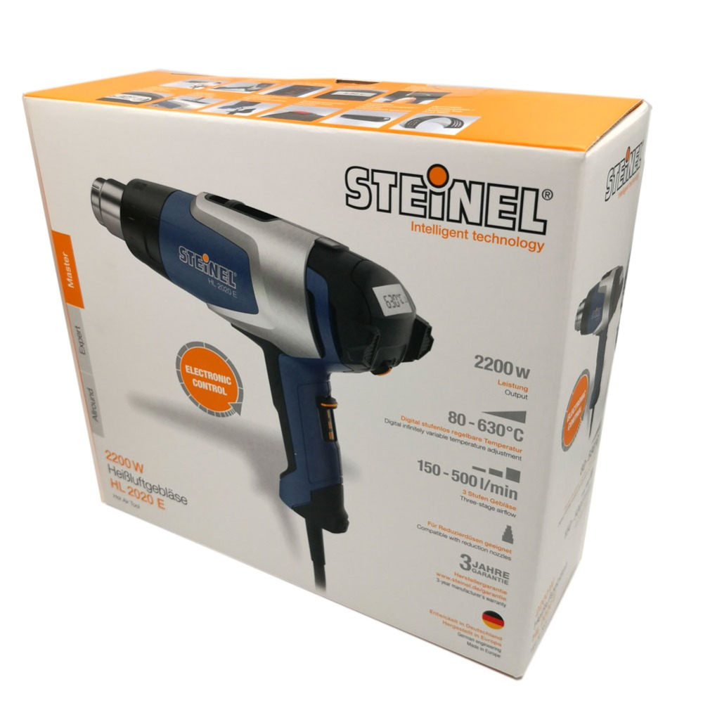 Ha31f97eacb014c9db21a7ee5593da7b5a - Germany STEINEL HL-2020E 34mm Outlet 2200W 220V 3-stage Air Flow Volume LCD Display Electronic Control Temperature Hot Air Gun