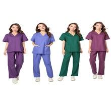 Медицинская форма для женщин. Куртка для медсестры, наборы для ухода, хлопок, профессиональная Больничная форма с 3 карманами