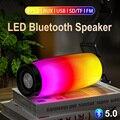 LED Portable Bluetooth Speaker FM Radio Wireless Subwoofer Outdoor Speakers Music Boombox AUX USB Loudspeaker Soundbar Party Box