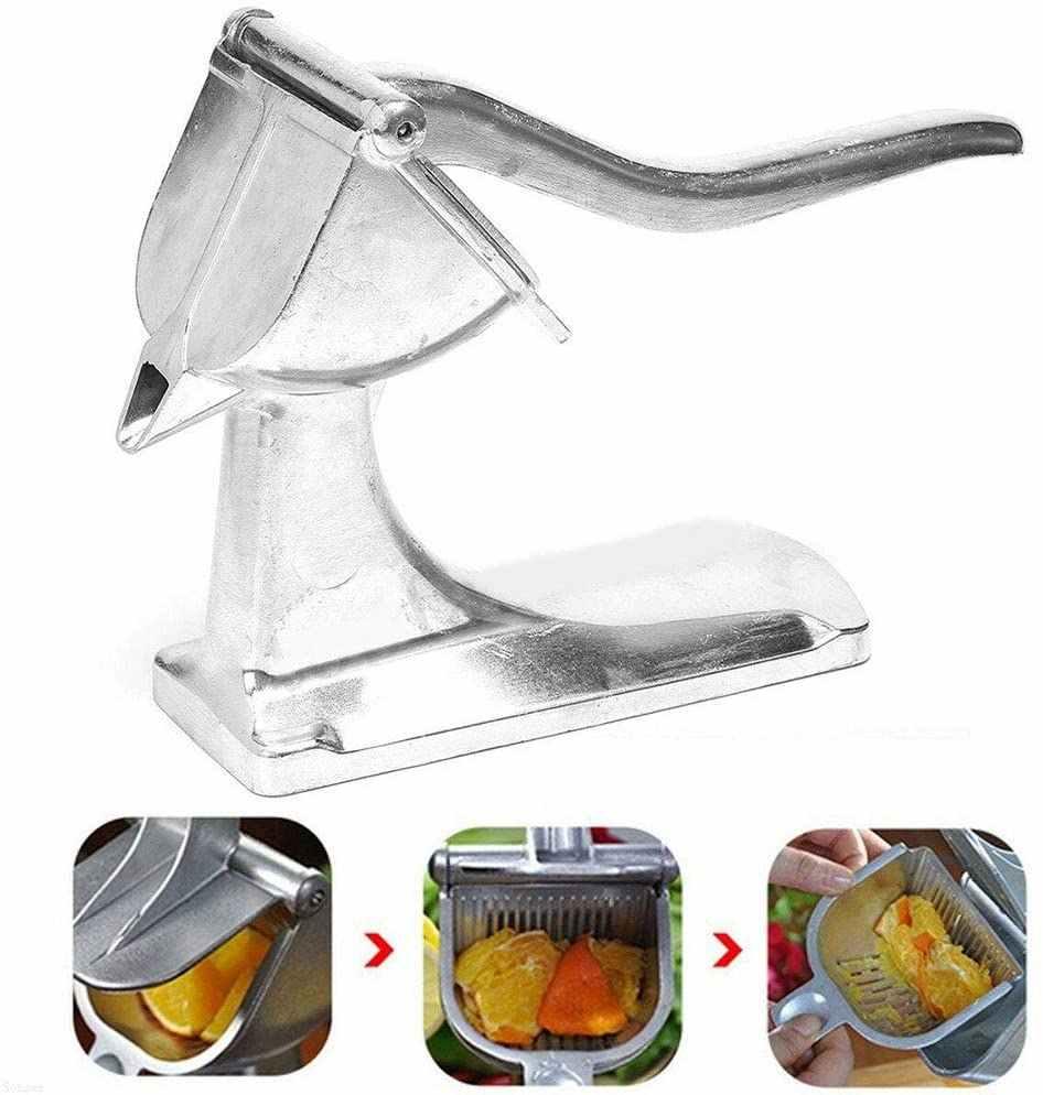 Silver Stainless Steel Manual Fruit Juicer Heavy Duty Fruit Press ...
