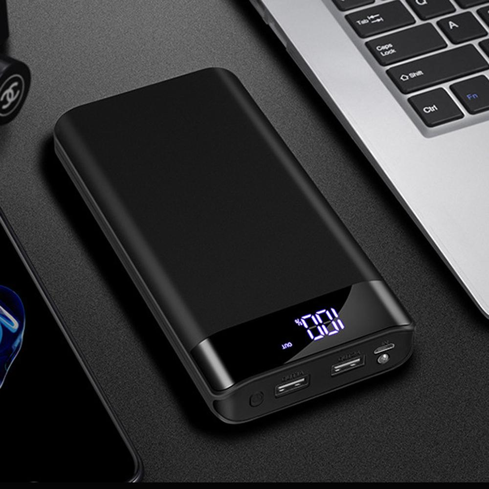 LEORY Power Bank Charger Case Power Bank Case 20000mAh Dual USB Output LED Dispaly Fast Charging External Battery Charger Case