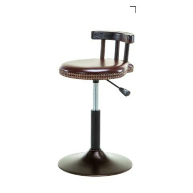 American Style Iron Leisure Bar Stool Retro  Chair Lift Reception Desk High  Cafe