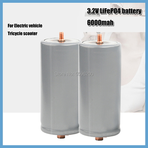 Lithium 32650 screw head Lifepo4 3.2V 6000mAh for electric vehicle battery smart robot and electric toy car