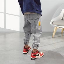 Spodnie dla dzieci dziewczyny maluch chłopcy dżinsy grube dzieci dżinsy dla chłopców dżinsy dzieci chłopiec casualowe spodnie jeansowe maluch dzieci odzież 5-14Y tanie tanio Stranglethorn Na co dzień Pasuje prawda na wymiar weź swój normalny rozmiar B2007006 Elastyczny pas Stałe Proste light