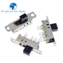 Двойной переключатель SS23E04, 10 шт., 8 контактов, 3 файла, ручка 2P3T DP3T, высота 5 мм, маленький переключатель слайдов