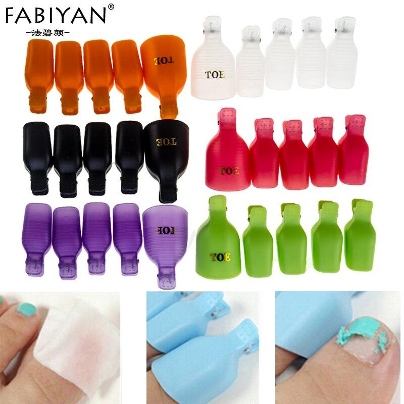 10pcs Plastic Toes Toe Nail Art Soak Off Clip Cap Uv Gel Polish Tips Remover Cleanser Wrap Tool Salon Manicure Nail Art Soak Off Nail Art Soaktip Remover Aliexpress
