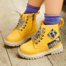 2019 Girl Autumn Martin Child Boots for Kids Toddler Boy Snow Boots Shoe for Kids Boy Boots Fashion Non-slip Leather цена в Москве и Питере