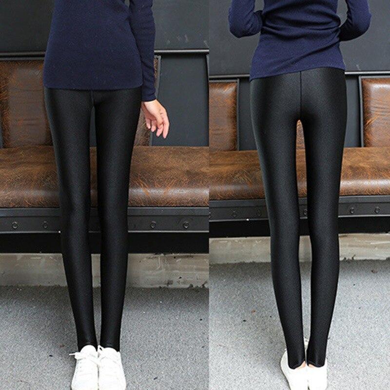 Thin section full trousers leggings Shiny Basic Leggings 2019 female models