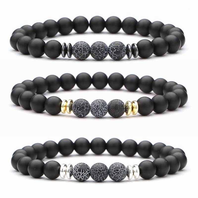 2019 8MM Natural Stone Bracelet Men Beads Bracelet For Men and Women Best Friend Gift For Him Gift For Her Pulseira Masculina