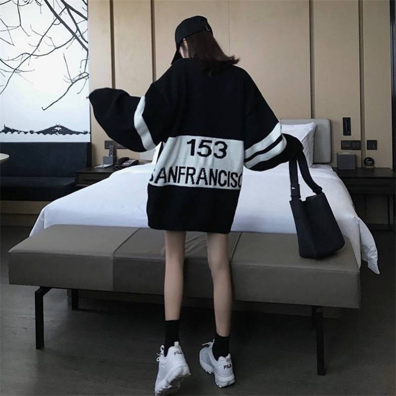 Autumn Oversized Hoodie Dress Sweatshirt Women Top Letter Print Loose Long Hoodie Sweatshirt Winter Ladie Pullover Female Hoodie