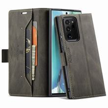 Flip For Samsung Galaxy Note 20 Case Wallet Matte Cover For Samsung Note 20 Ultra 5G Case Leather Luxury Strong Magnetic Cases