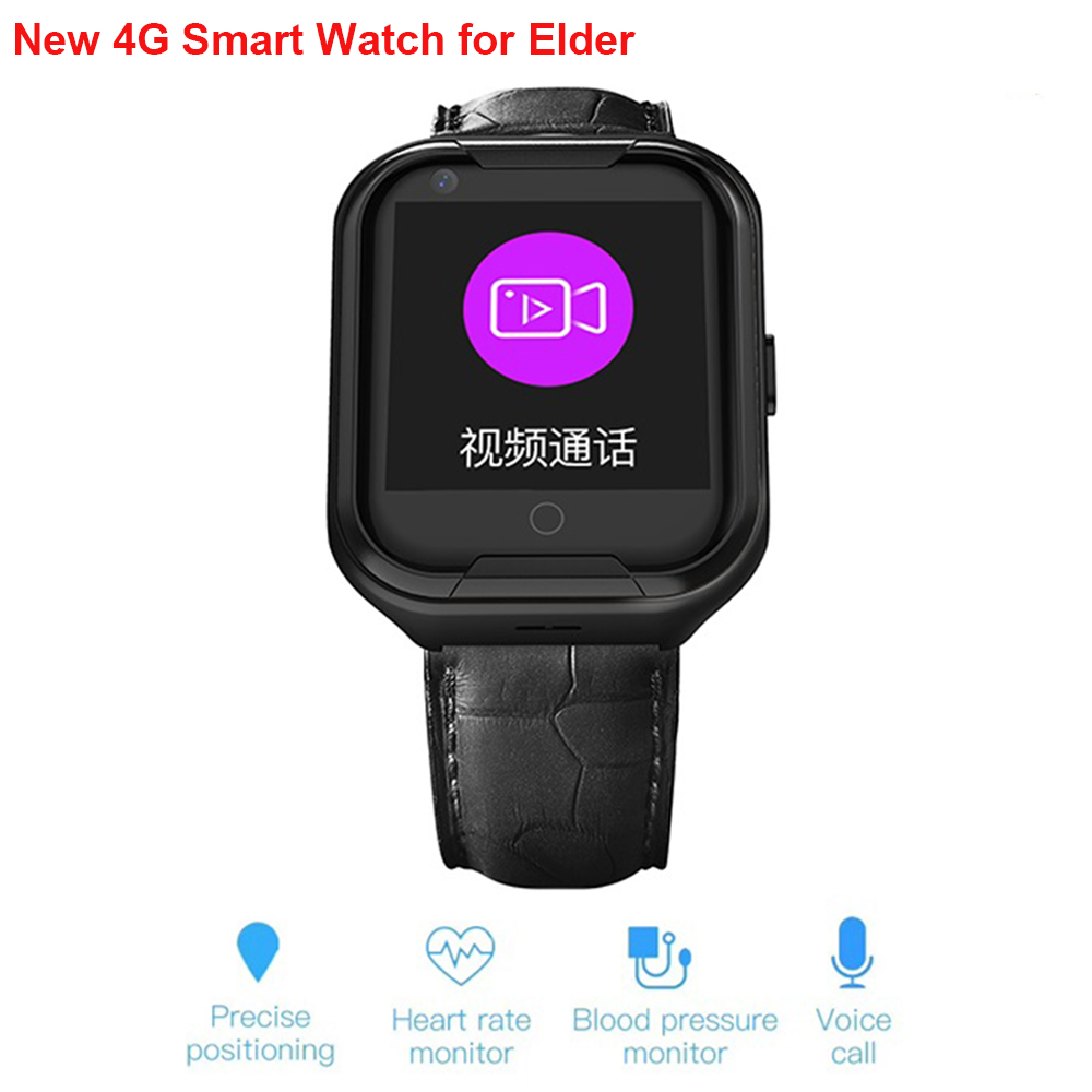 New <font><b>4G</b></font> Smart <font><b>Watch</b></font> Elder Old Men Women Sleep Heart Rate <font><b>Blood</b></font> <font><b>Pressure</b></font> Monitor HD Voice Chat SOS Fall-down Alarm Wirstband image