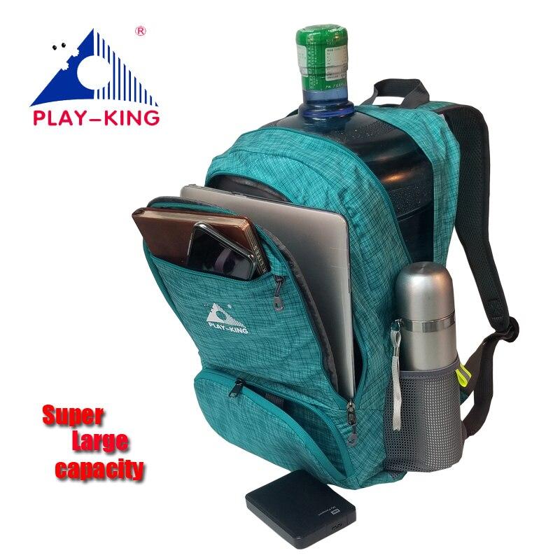 PLAYKING Mochila de viaje plegable impermeable Mini Mochila de viaje mujeres hombres bolsa para 2019 Mochila femenina camping trekking